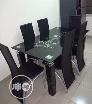 Quality 6 Seaters Glass Dining Table