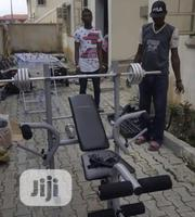 New Weight Lifting Bench With 50kg Barbell | Sports Equipment for sale in Abuja (FCT) State, Jabi