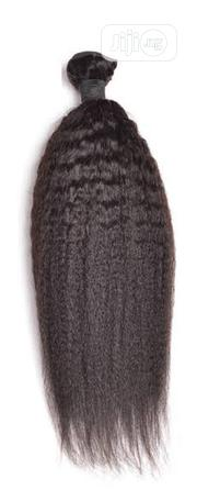 100% Kinky Straight With Closure Human Hair | Hair Beauty for sale in Lagos State, Ikeja