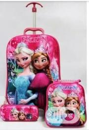 3 In 1 Set Frozen Character Trolley School Bag Pack Set | Babies & Kids Accessories for sale in Lagos State, Lagos Mainland