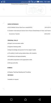 Teaching CV | Teaching CVs for sale in Lagos State, Orile