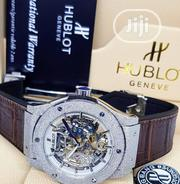 Quality Hublot Geneve Coffee Brown Leather Wristwatch | Watches for sale in Lagos State, Surulere