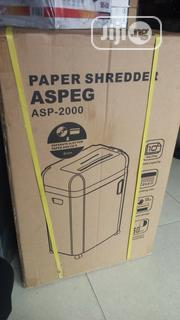Aspeg Paper Shredder Asp 2000 | Stationery for sale in Abuja (FCT) State, Wuse 2