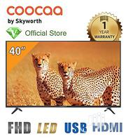 """Coocaa 40"""" LED FHD TV + Free Wall Bracket -black - Made By Skyworth 