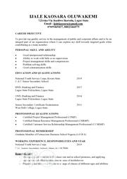 My CV | Clerical & Administrative CVs for sale in Lagos State, Ikorodu