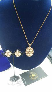 Gold Pearl Earring and Necklace | Jewelry for sale in Lagos State, Ajah