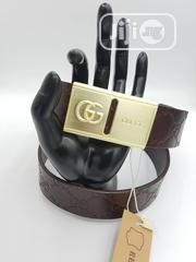 Gucci Leather Belts Men Corporate Belt Available as Seen Order | Clothing Accessories for sale in Lagos State, Lagos Island