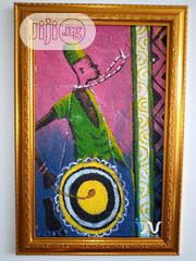 """Talking Drum 13"""" By 21"""" Painting 