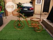Metal Gold Tricycle Style Flower Rack | Garden for sale in Delta State, Uvwie