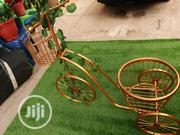 Gold Colour Three Wheels Tricycles And Flower Pots | Garden for sale in Bayelsa State, Ogbia
