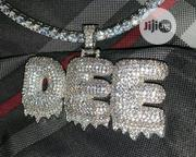 Unisex Customized Iced Out Pendant With Tennis Chain | Jewelry for sale in Lagos State, Ikeja
