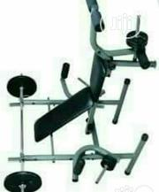 American Fitness Weight Beach With 45kg Dumbells | Sports Equipment for sale in Lagos State, Magodo