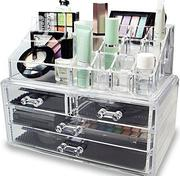 4 Drawer Transparent Acrylic Makeup Bag Cosmetic Organizer Storage Box | Home Accessories for sale in Lagos State, Lagos Island