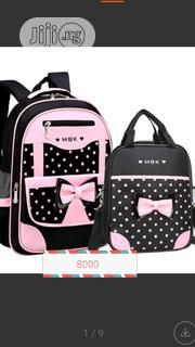 2 In 1 School Bag With Lunch Bag For Girls | Babies & Kids Accessories for sale in Lagos State, Egbe Idimu