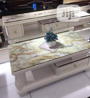 Portable Unique Marble Center Table And Tv Stand | Furniture for sale in Lagos State, Isolo