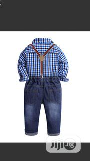 Cute Jeans And Shirt With Bow Tie And Suspender | Children's Clothing for sale in Lagos State, Egbe Idimu