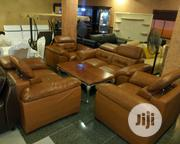 7 Seaters Leather Sofer With Quality To Stand The Teast Of Time. | Furniture for sale in Lagos State, Victoria Island