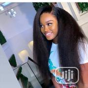 Brazilian Kinky Straight Human Hair, 18inches With Frontal | Hair Beauty for sale in Lagos State, Surulere