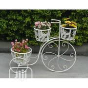 Decorative White Wrought Iron Tricycle Pot/Vase Holder On Sales   Manufacturing Services for sale in Abuja (FCT) State, Central Business District