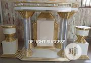 Original New Designs Gold - Silver Church Pulpit In Stock With Vasts | Furniture for sale in Lagos State, Ojo