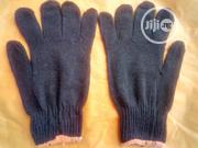 Cotton Safety Hand Gloves Black Color. | Safety Equipment for sale in Lagos State, Ajah