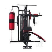 American Fitness Three-Station Gym With Punching Bag Boxing Trainer | Sports Equipment for sale in Lagos State, Lagos Mainland