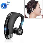 Can Connect to 2 Phones Premium Bluetooth Headset - V9 - Black | Headphones for sale in Lagos State, Ikeja
