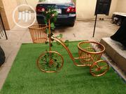 Fabricated Wrought Iron Tricycle Planter Stand | Manufacturing Services for sale in Delta State, Aniocha South