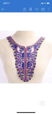 Purple Danshiki Style Neck Appliqué | Arts & Crafts for sale in Rivers State, Port-Harcourt
