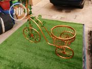 Gold Colour Tricycle Planter Stand For Beautification Of Homes | Manufacturing Services for sale in Ekiti State, Ado Ekiti