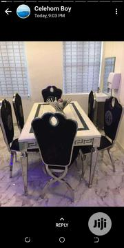 Versace Marble Dinning With 6versace Chair | Furniture for sale in Lagos State, Ojo