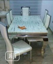 Marble Dining Table With Six Durable Leather Chairs   Furniture for sale in Lagos State, Lekki Phase 2