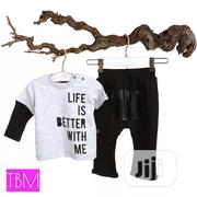 Turkey Brand 2 Set Of Long Sleeved Top And Long Pants & Leather Patch | Children's Clothing for sale in Lagos State, Lekki Phase 1