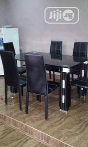 A Brand New Turkey Plain Six Seater Glass Dining Table   Furniture for sale in Lagos State, Victoria Island