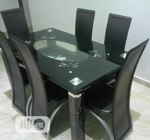 Quality Glass Dining Table by 6