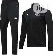 Manchester United Training Tracksuits Black Red | Clothing for sale in Lagos State, Lagos Island
