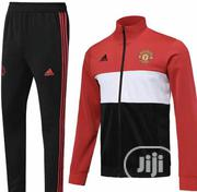 Manchester United Tracksuits In Black And Red Color Combination | Clothing for sale in Lagos State, Lagos Island