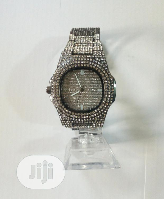 Archive: Stainless Steel Watch With Stones
