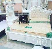 King Size Bed (White Coloured) With Bedside Drawers | Furniture for sale in Lagos State, Ojo