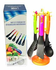 6pcs Non-Stick Cooking Spoon Set With a Stand | Kitchen & Dining for sale in Lagos State, Ajah