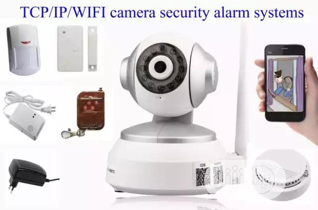 Camera Network Home Security Alarm System With Fire Alarm