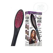 Simple Simply Straight Ceramic Hair Straightening Brush - Black | Tools & Accessories for sale in Lagos State, Ikeja