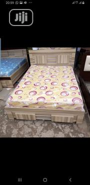 4x6 Bedframe and Mouka Standard Mattress | Furniture for sale in Lagos State, Ojo
