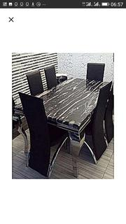 Classic Marble Dinning With Six Chairs | Furniture for sale in Abuja (FCT) State, Gwagwalada