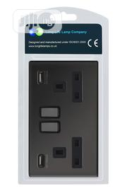 Black Nickel USB Double Wall Plug Socket | Accessories for Mobile Phones & Tablets for sale in Abuja (FCT) State, Kado