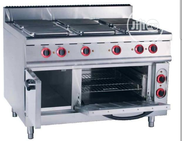 6 Burner Gas Cooker With Oven