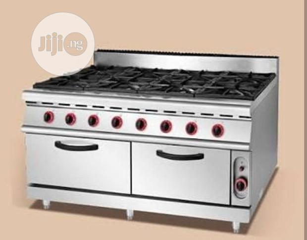 Gas Burner Cooker With Oven