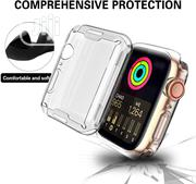 Clear Case for Apple Watch With Built-In TPU Screen Protector | Accessories for Mobile Phones & Tablets for sale in Lagos State, Ikeja