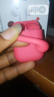 Wireless Airpod I12s Red | Headphones for sale in Lagos State, Ikeja