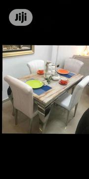 Quality 4 Seater Marble Dining Table and Chairs | Furniture for sale in Lagos State, Ojo